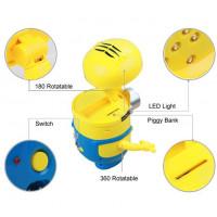 Minions LED Lampe Kan også Oplades Sparbøsse.