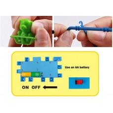 81 stykker elektriske 3D puslesæt mekanisk tandhjul byggesæt plastik