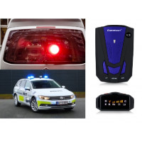Bilradardetektor 360 graders anti-politi Fuld 16LED-båndhastighed