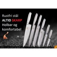 Professionelt Køkken Kniv Sæt i Rustfrit Stål