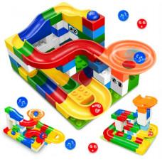 byggeklodser som labyrint med bolde (Kompatibel med lego duplo)
