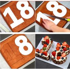 Forme til kager Plast tal 35cm