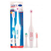 Batteridrevet elektrisk tandbørste med 3 børstehoved
