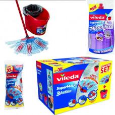 Vileda moppe sæt med 2 ekstra hovde mopper