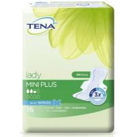 Tena Lady Mini Plus 16stk/pk hygiejnebind m/vinger