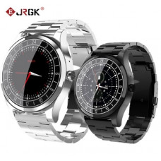 JRGK Bluetooth Smart Watch Metal armbåndsur Ringopkald Hjertefrekvens Blodtryks sport Fitness tracker