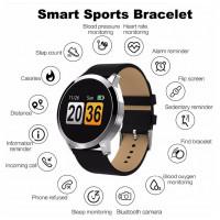 Q8 Smart watch OLED Hjertefrekvensdetektion Blodsyresøgning Blodtryksdetektering Fitness Tracker