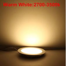 Indbygning Led Spot 12W Ø165 Ultra tynde varm hvid Rovky