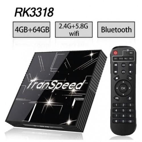 Android 9.0 TV BOX 3D 4K Youtube Netflix 4G 64G Google Voice