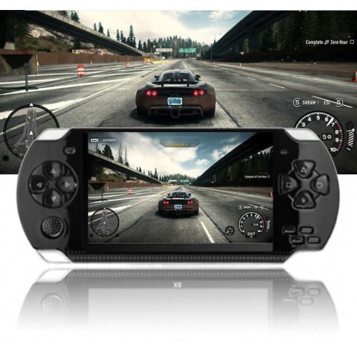 """4.3"""" håndholdt spilkonsol M/ 1000 Spil kan kobles til Tvet 16:9 HD-skærm."""