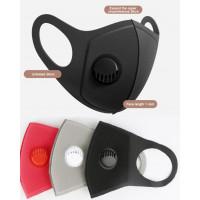 3 lags ansigtsmaske med ventil / åndedrætsværn, i 3 forskellige farver