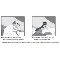 Dæktryksovervågningssystem TPMS Trådløs LCD-skærm
