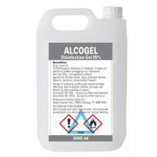 5 liter håndsprit 85% (tynd gel) dansk produceret