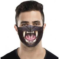 Skræmmende trykt stof ansigtsmaske vaskbar