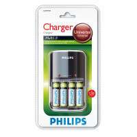 Philips Multilife batterioplader - 4 x AA type - NiMH