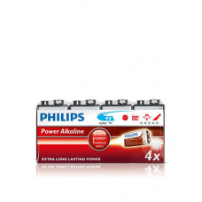 Philips 9V Extra long power 4 stk