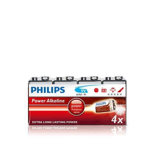 Philips 9V Extra long power 4 stk