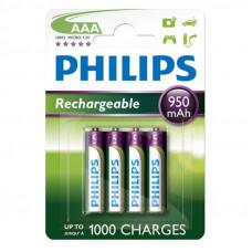 Philips Genopladelige AAA batterier - 4 stk