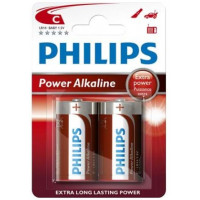 Philips Power Alkaline C Baby batterier 2 stk.