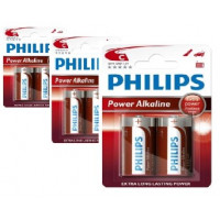 Philips Power Alkaline C Baby batterier 6 stk.