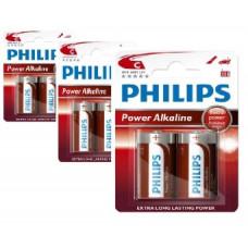 Philips Power Alkaline C Baby batterier 6 stk.