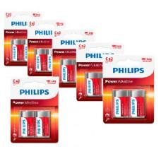 Philips Power Alkaline C Baby batterier 12 stk.