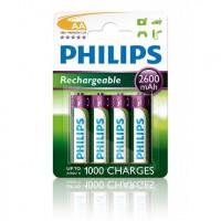 Philips Genopladelige AA batterier - 4 stk