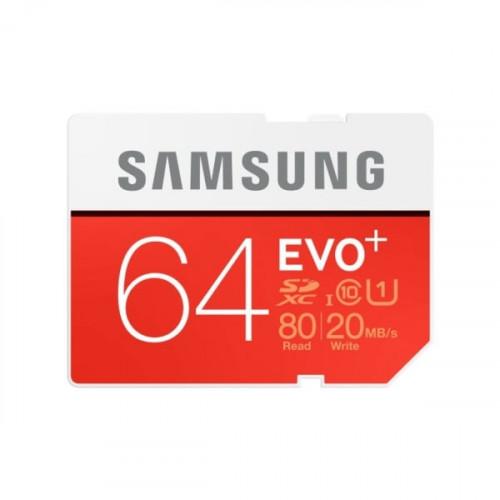 Samsung SD EVO+ 64GB Class 10 (Kamera Tilbehør)